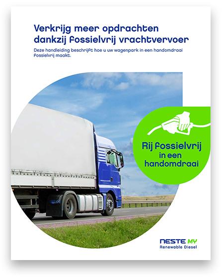 Whitepaper-omslag wit/blauwe vrachtwagen met blauwe lucht