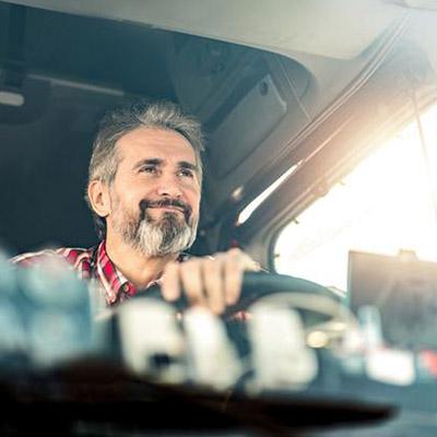 driver at the wheel
