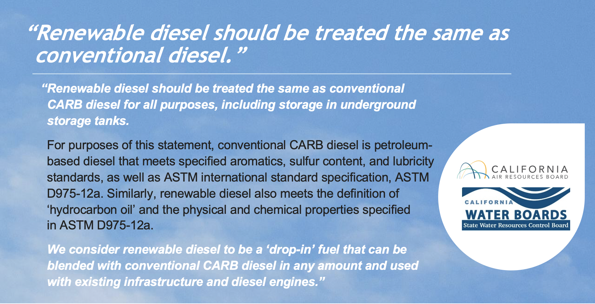 Renewable Diesel
