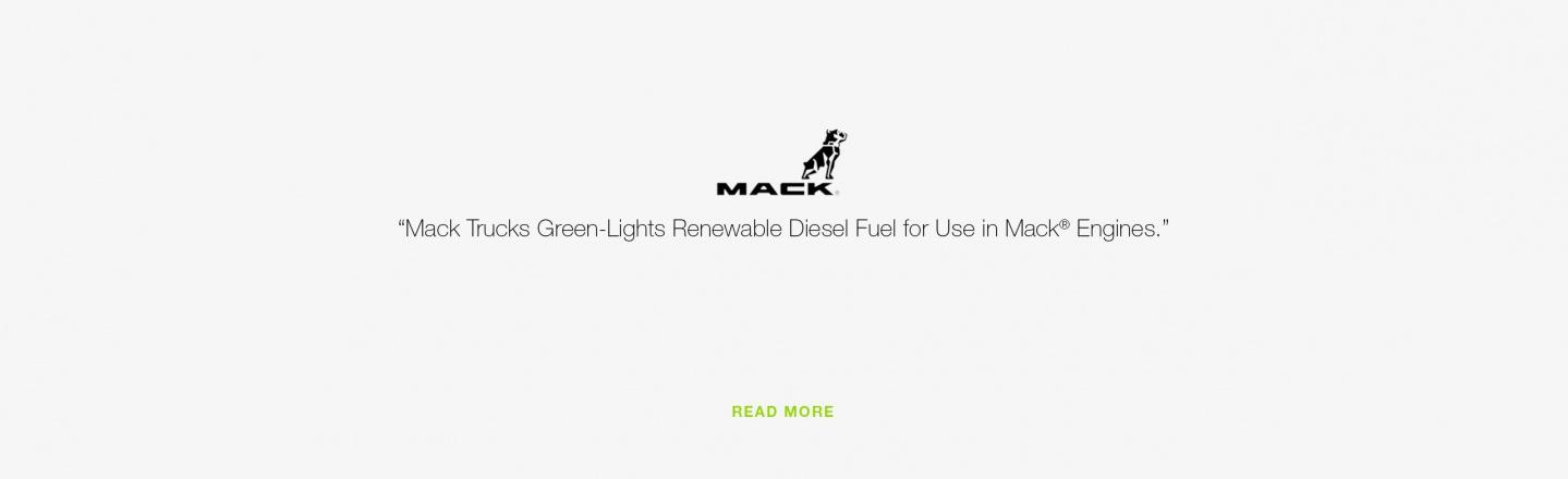 Mack Trucks Green-Lights Renewable Diesel Fuel for Use in Mack Engines