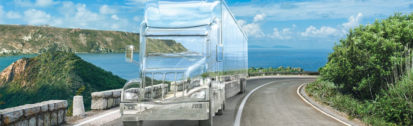 Transparent Semi Truck