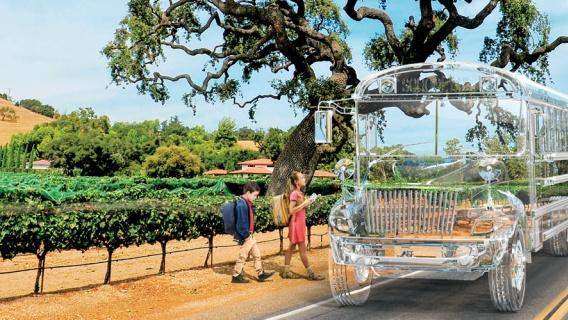 Transparent school bus