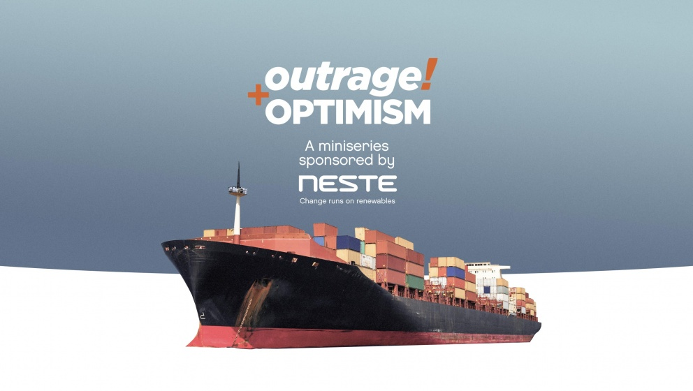 How to decarbonize shipping? Industry leaders answer on the Outrage + Optimism podcast, sponsored by Neste.